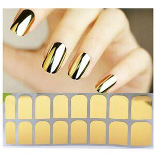Наклейки для ногтей. Золотые.