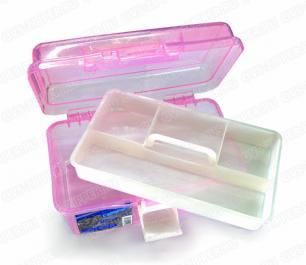 Кейс косметологический, пластиковый с отделениями R-547. Большой. 24см х 14см х 13см