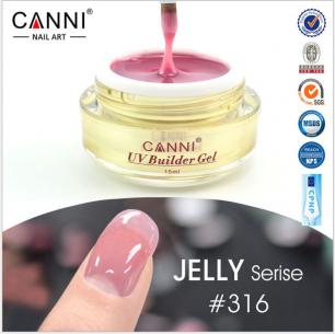 Моделирующий гель-желе камуфляж Canni №316 UV Builder Gel Jelly