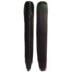 Искусственные термостойкие волосы на зажиме прямые №002B (55 см) -  150 гр.